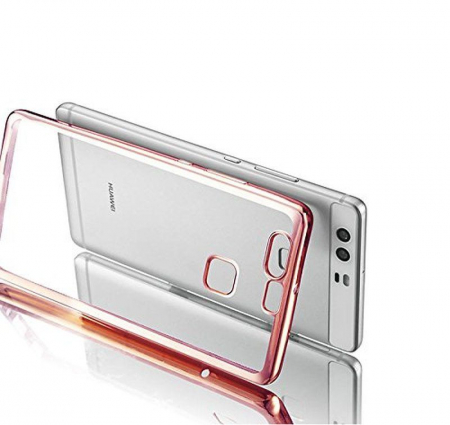 Husa Silicon TPU Plating Ultra Thin Huawei P9 - roz1