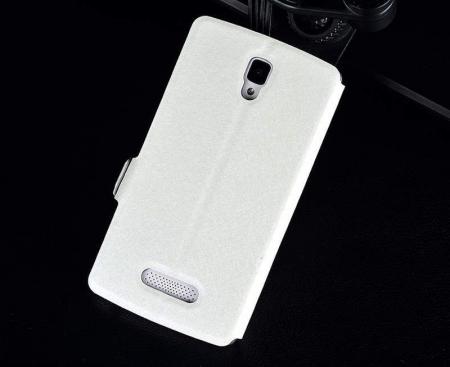 Husa Lenovo A2010 Silk stil carte - alb1