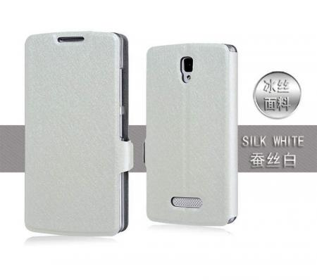 Husa Lenovo A2010 Silk stil carte - alb2