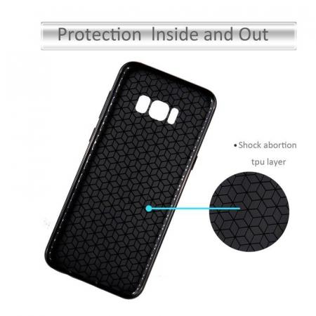 Husa Slim Tpu Carbon Samsung Galaxy S8 - auriu4