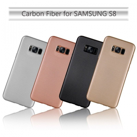 Husa Slim Tpu Carbon Samsung Galaxy S8 - auriu7