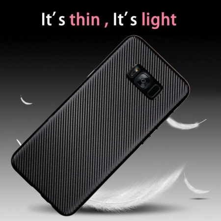 Husa Slim Tpu Carbon Samsung Galaxy S8 - auriu1