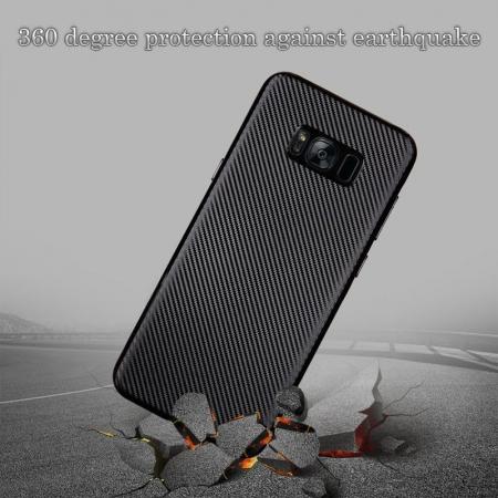 Husa Slim Tpu Carbon Samsung Galaxy S8 - auriu2