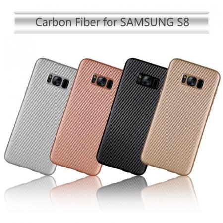 Husa Slim Tpu Carbon Samsung Galaxy S8 - negru [7]