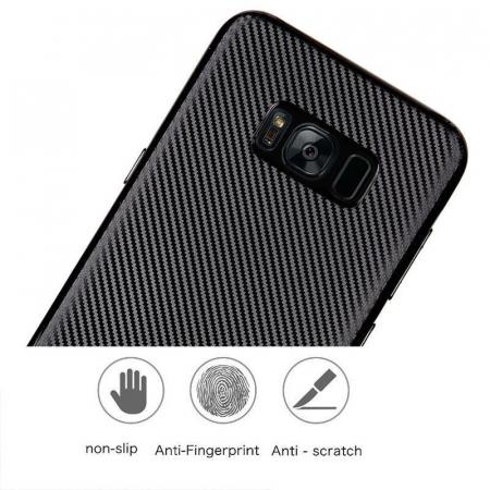 Husa Slim Tpu Carbon Samsung Galaxy S8 - negru [6]