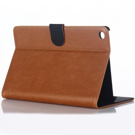 Husa iPad Mini 4 Stil Carte Piele Eco - maro2