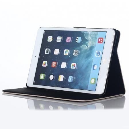 Husa iPad Mini 4 Stil Carte Piele Eco - crem3