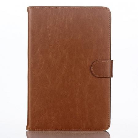 Husa iPad Mini 4 Stil Carte Piele Eco - maro1