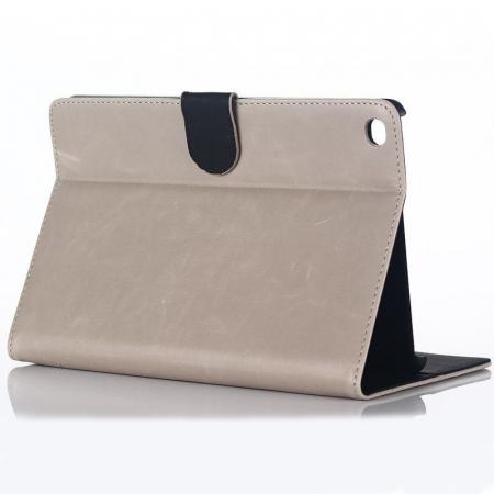 Husa iPad Mini 4 Stil Carte Piele Eco - crem2
