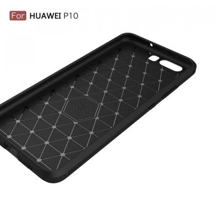 Husa  Huawei P10 Carbon Fibre Brushed - rosu1