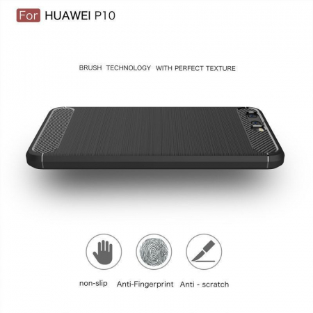 Husa  Huawei P10 Carbon Fibre Brushed - rosu4