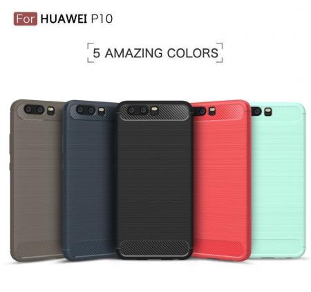 Husa  Huawei P10 Carbon Fibre Brushed - rosu8