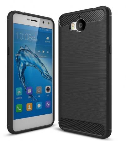 Husa  Huawei Y6 2017 Tpu Carbon Fibre Brushed - negru0