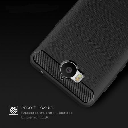 Husa  Huawei Y6 2017 Tpu Carbon Fibre Brushed - rosu3
