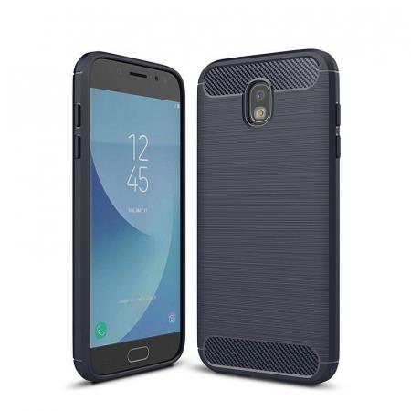 Husa  Samsung Galaxy J7 2017 Tpu Carbon Fibre Brushed - albastru0
