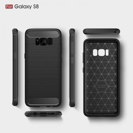 Husa Tpu Carbon Fibre Brushed Samsung Galaxy S8 - gri6