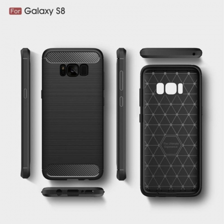 Husa Tpu Carbon Fibre Brushed Samsung Galaxy S8 - negru [7]