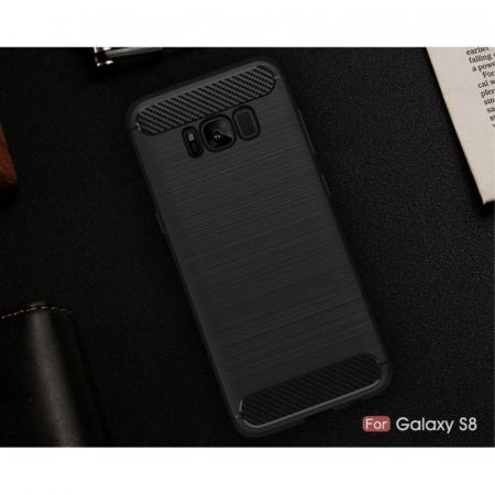 Husa Tpu Carbon Fibre Brushed Samsung Galaxy S8 - negru [9]