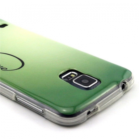 Husa TPU Green Love Samsung Galaxy S5 [2]