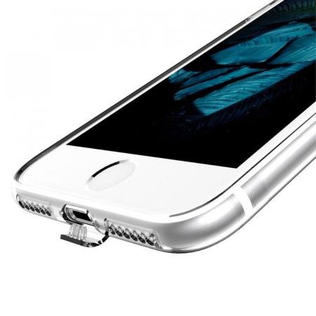 Husa  Iphone 7 - Usams Ultra Thin Soft TPU - argintiu transparent4
