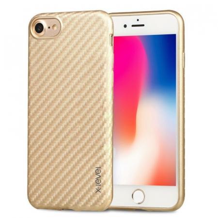 Husa iPhone 7 / iPhone 8  X-level Color Fiber - gold0
