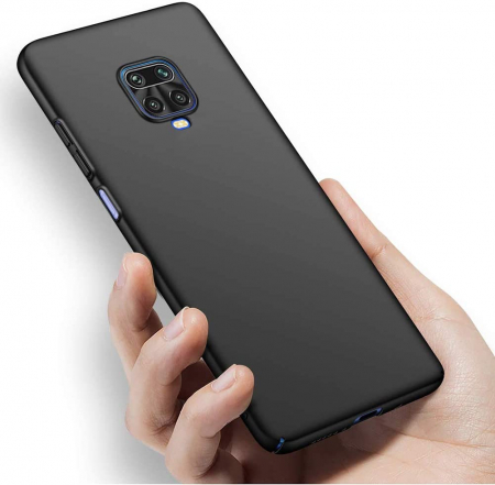 Husa Xiaomi Redmi Note 9 Pro Silicon Matte TPU Extra Slim – negru [3]