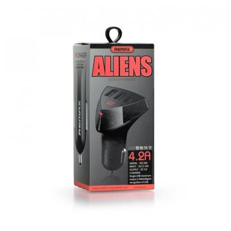 Incarcator auto REMAX Aliens 4.2A x 3 usb, negru7