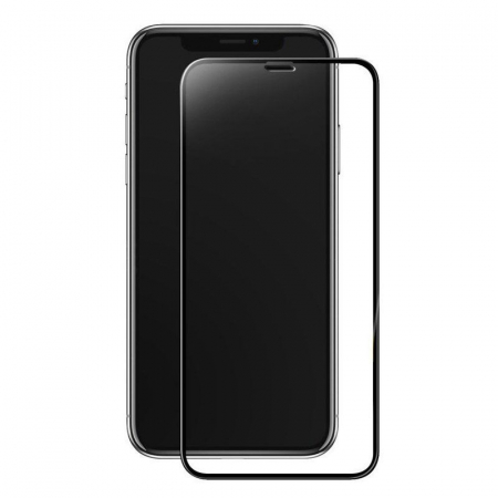 Sticla Securizata 5D Full Glue iPhone X - margini negre0
