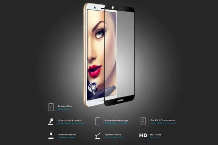 Sticla Securizata Full Screen Huawei P Smart / Enjoy 7S - negru1