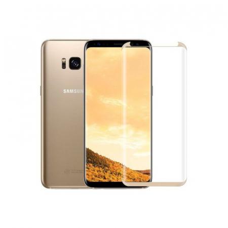 Sticla Securizata Samsung Galaxy S8 Full Screen Case Friendly - margini gold3