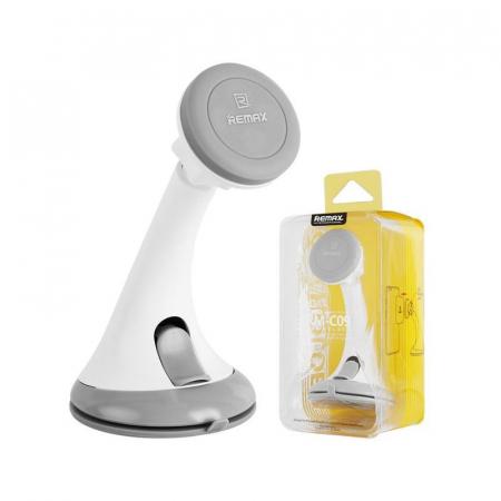 Suport auto magnetic Remax pentru telefoane, alb-gri5