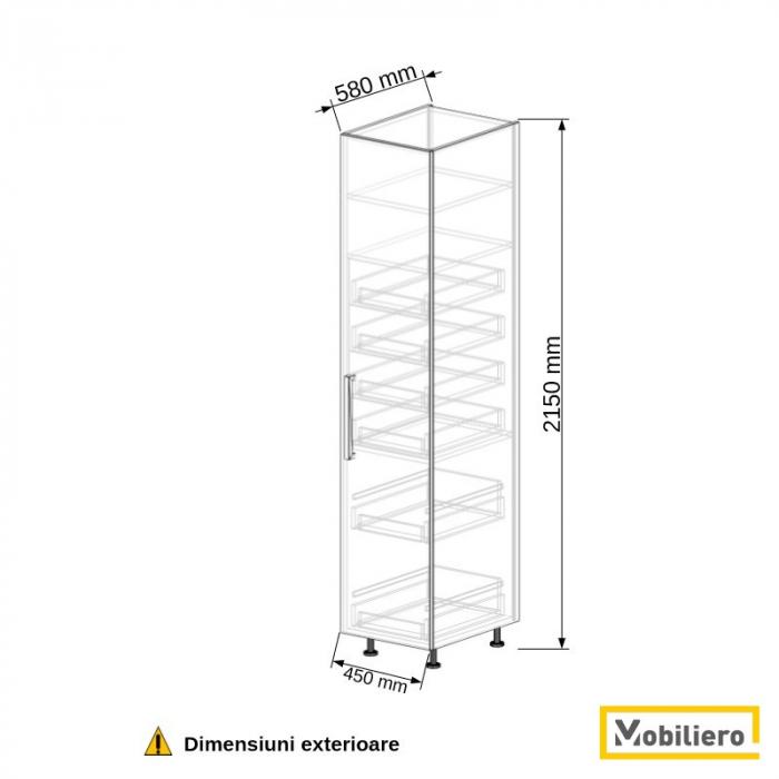 Dulap depozitare inalt cu sertare 450 mm [2]