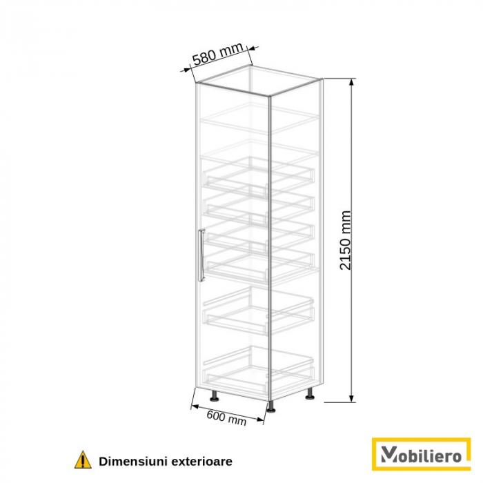 Dulap depozitare inalt cu sertare 600 mm [2]