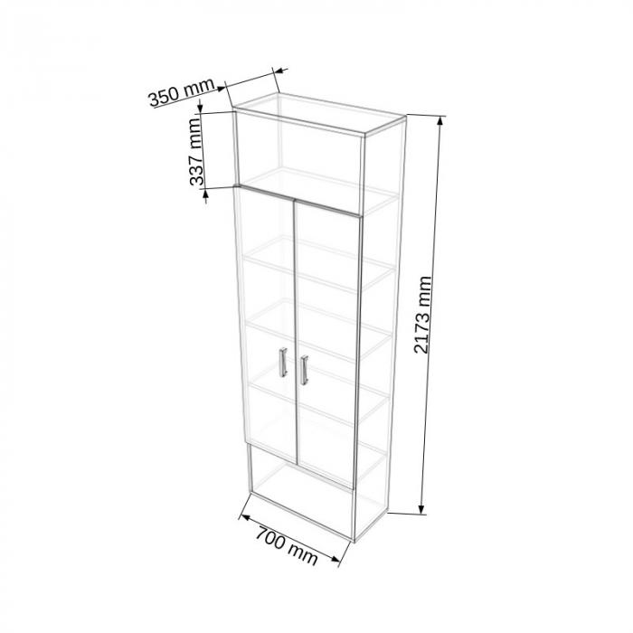 Dulap modular Duo 1G-2U-3P-1G 700 x 350 x 2173 mm [1]