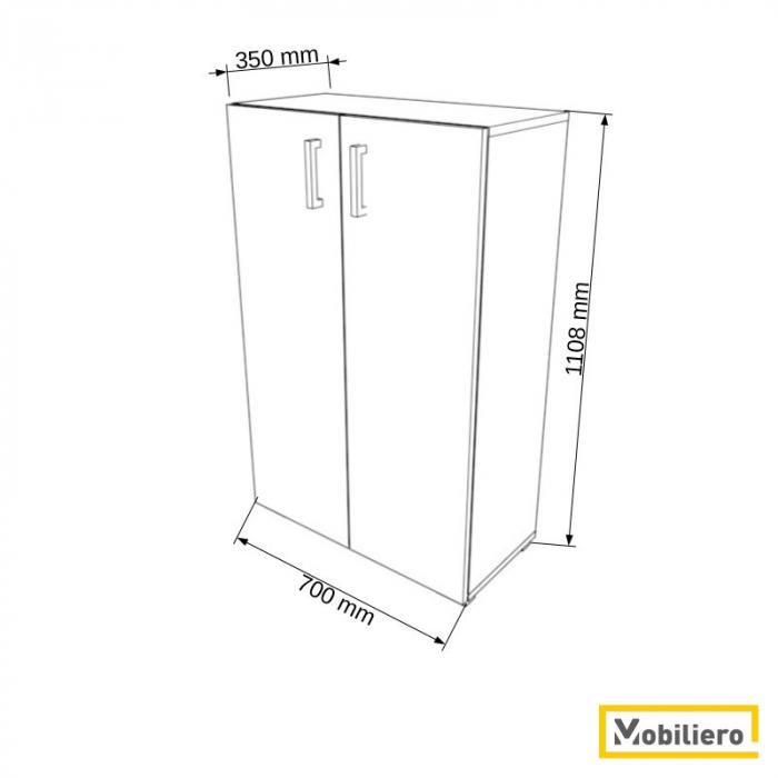 Dulap modular Duo 2P-2U 700 x 350 x 1108 mm [1]
