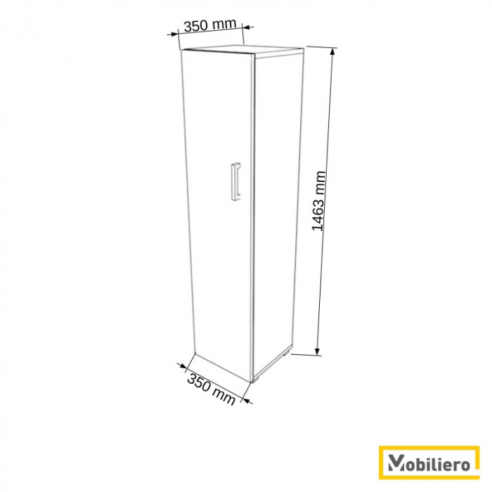 Dulap modular Uno 3P-1U 350 x 350 x 1463 mm [1]