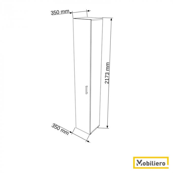 Dulap modular Uno 5P-1U 350 x 350 x 2173 mm [1]