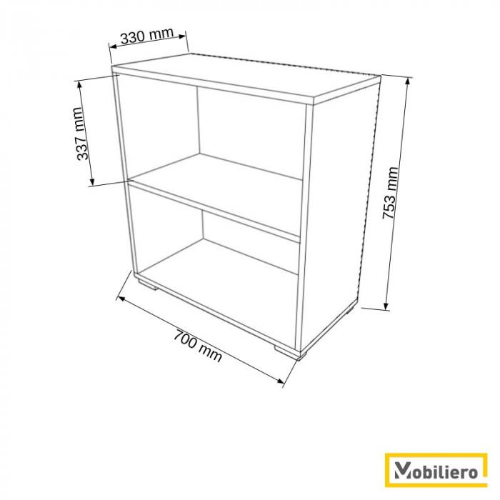 Etajera modulara Duo 2 compartimente 700 x 330 x 753 mm [1]