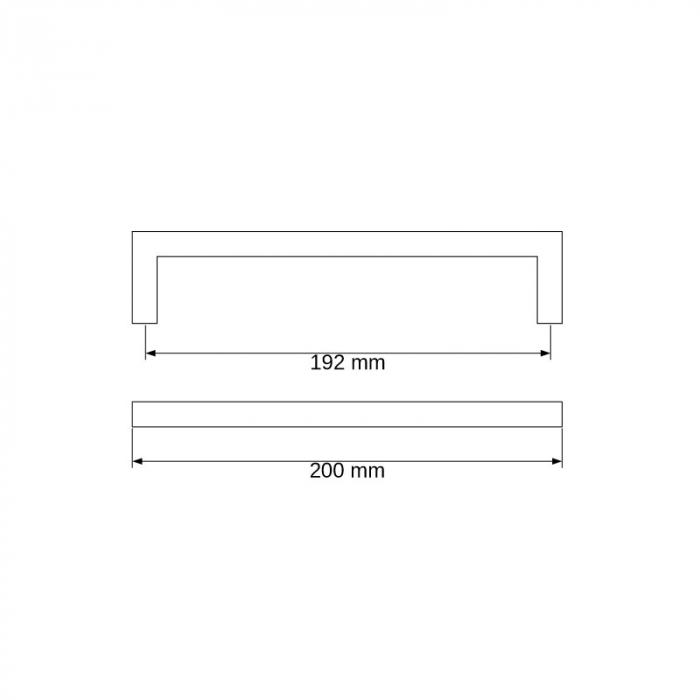 Maner metalic U alb mat [1]
