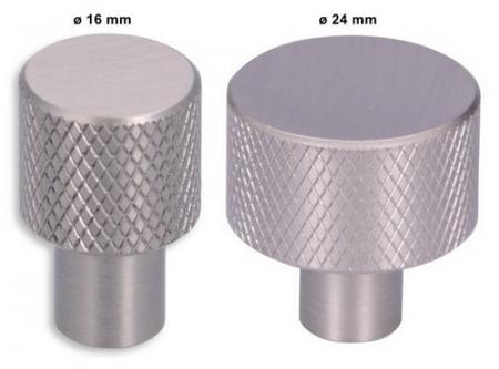 Buton metalic cu striatii efect inox [0]