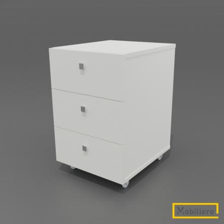 Corp mobil (rollbox) cu 3 sertare 400 x 470 x 615 mm, White Craft Oak K001PE