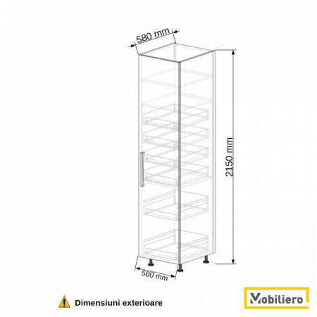 Dulap depozitare inalt cu sertare 500 mm [2]