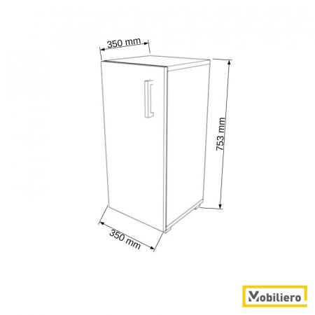 Dulap modular Uno 1P-1U 350 x 350 x 753 mm [1]