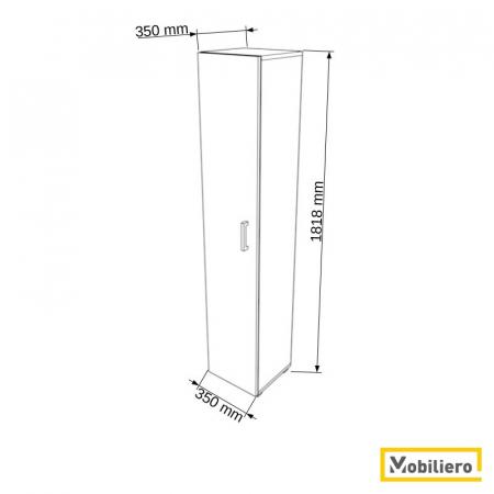 Dulap modular Uno 4P-1U 350 x 350 x 1818 mm [1]