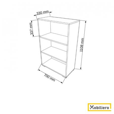 Etajera modulara Duo 3 compartimente 700 x 330 x 1108 mm [1]