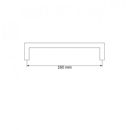 Maner metalic cu striatii negru mat [1]