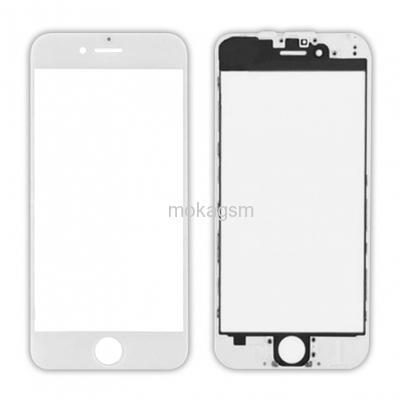 Geam cu rama si Oca pentru Iphone 6 Plus Alb 0