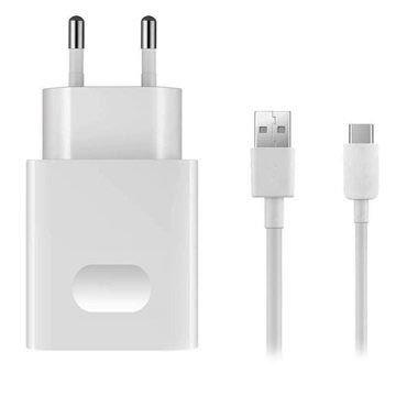 Incarcator retea Huawei AP32 White, cablu USB Type-C inclus, incarcare rapida, quick charge 1