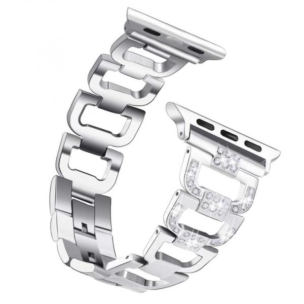 Bratara Apple Watch 3 Watch 4 38/40mm Diamond steel Silver 0