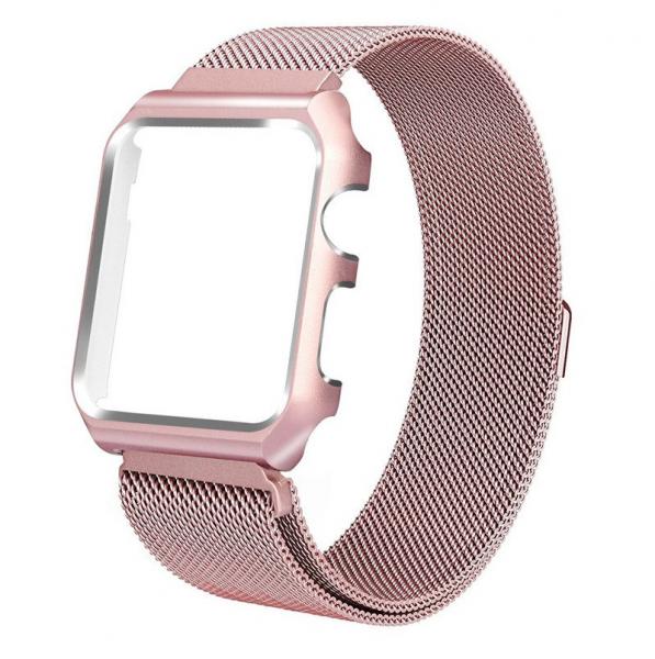 Bratara Apple Watch 4, 40mm full magnetic strap Rose 0